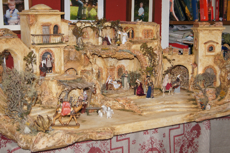 gro e orientalische krippe weihnachtskreis wood art more. Black Bedroom Furniture Sets. Home Design Ideas