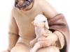 Hirt mit Schaf sitzend - € 36,00 (12 cm, lasiert)