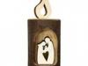 NEU 2013! Kerze aus Holz mit Hl. Familie zum Stellen