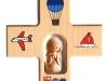 Holzkreuz mit Tonengel 12x12cm - Nr. N 419 € 19,--