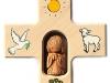 Holzkreuz mit Tonengel 12x12cm - Nr. N 415 € 19,--