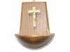 Holz-Weihwasserkessel Esche geb. mit Salcherkreuz natur € 21,--