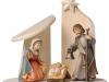 Krippenstall mit Bethlehem-Figuren (Salcher) 14cm/c - Art.: 2711a  -  € 171,30