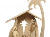Krippenstall mit Morgenstern-Figuren 20cm/3tönig gebeizt - Art.: 2774m - € 234,50