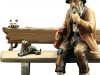 Sitzender Mann (ohne Bank) Art.: 10701-012b o.S. - 10cm color/€ 66,50