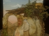 Orientalische Schwammkrippe mit Figuren der Orig. Komet Krippe